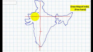 United States Map Without Labels by Draw Map Of India Free Hand Youtube