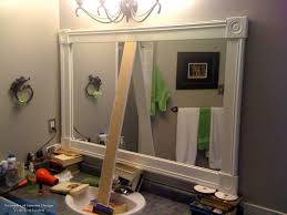 Framed Bathroom Mirror Amazing Of Bathroom Mirror Frame Ideas Framed Bathroom Mirror U2013 Sl