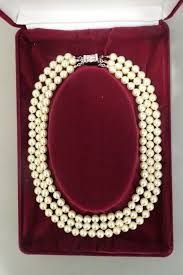 pearl necklace box images Camrose kross jackie bouvier kennedy 3 row faux pearl jpg