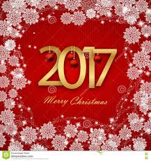 gelukkig nieuwjaar 2017 kerstkaart witte tekst op rode