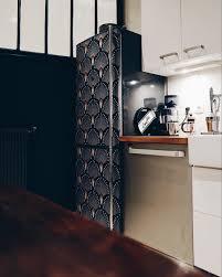 cuisine uip pas cher avec electromenager coup de frais relooker frigo avec du papier peint