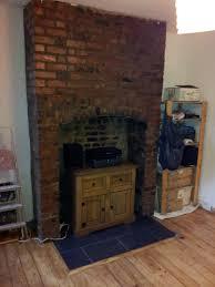 brick chimney breast chimneys pinterest bricks hearths and