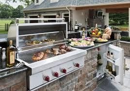 barbecue cuisine barbecue fixe fonctionnel et esthétique dans le jardin moderne