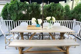 white and navy coastal deck on a budget u2013 glam york