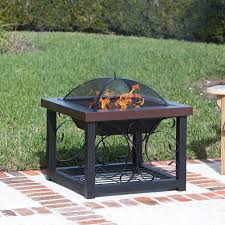 Table Firepit Hammer Tone Bronze Finish Cocktail Table Pit