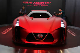 nissan red nissan concept 2020 vision gran turismo is on red alert