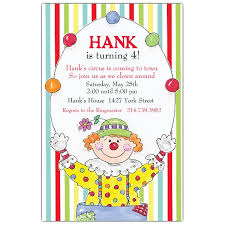 clowns for birthday happy clown birthday invitations paperstyle