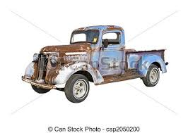 rusty pickup truck rusty blue truck old pickup truck starter for a major stock