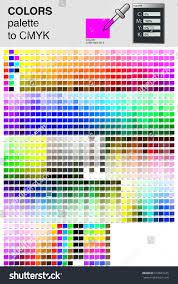 Cmyk Spectrum Colour Palette Cmyk Process Color Color Stock Vector 516601225