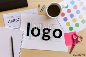 Graphic Designer Desk Creative Graphic Designer Desk Logo Design Concept Flat Lay