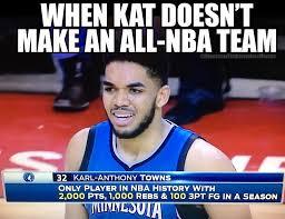 Kat Meme - kat doesn t make an all nba team do you minnesota timberwolves