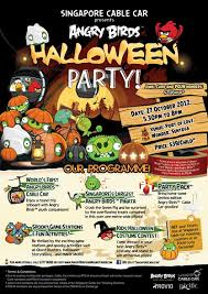 kids halloween party flyers cuisine paradise eat shop and travel angry birds halloween