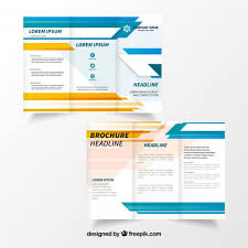 tri fold brochure template free download modern trifold brochure template vector free download