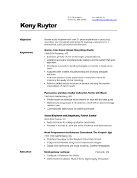 Sample Engineering Resumes by Download Audio Recording Engineer Sample Resume
