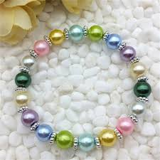 diy glass bead bracelet images Wholesale fashion jewelry mixed 8mm glass pearl stretch beaded jpg
