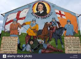 oliver cromwell protestant loyalist wall mural painting west stock photo oliver cromwell protestant loyalist wall mural painting west belfast northern ireland