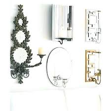 Mirrored Wall Sconce Silver Wall Sconces Home One Light Wall Sconce Silver Leaf Finish