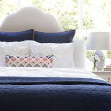 the diamond box stitch navy blue quilt u0026 sham crane u0026 canopy