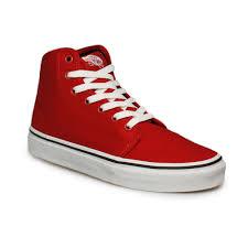 vans hombre mujer rojo con cordones altas top tenis tenis zapatos