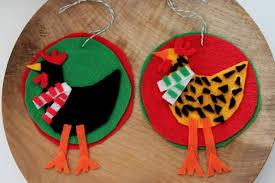 diy felt chicken christmas ornaments tilly u0027s nest
