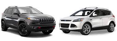 jeep suv 2016 black 2016 suv comparison jeep cherokee and ford escape aventura