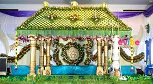 Hindu Wedding Mandap Decorations Coconut Leaves Wedding Mandap Decoration For Wedding Reception