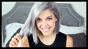 why have i gor grey hair in my 30s dying my hair silver grey youtube