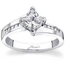 princess cut white gold engagement ring barkev s compass set princess cut engagement ring