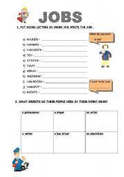 esl kids worksheets jobs occupations