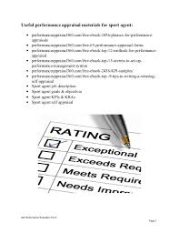 sports agent job description sport agent performance appraisal