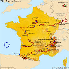 Dijon France Map by 1987 Tour De France Wikipedia