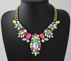 multi color necklace images Leslie 39 multi color statement necklace jpg