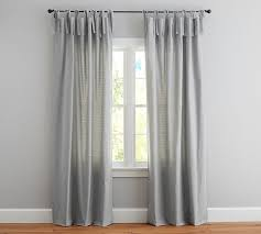 Tie Top Curtains Textured Cotton Tie Top Drape Pottery Barn