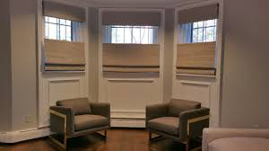 custom woven wood roman shades installation in boston u0027s back bay