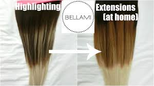 Bellami Ombre Hair Extensions by How I Lighten Bellami Hair Extensions At Home ベラミー エクステの