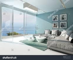 floor to ceiling glass doors luxury waterfront apartment living room floortoceiling stock