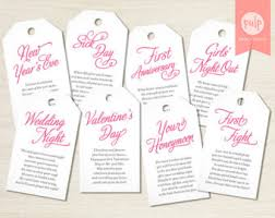 bridal shower wine basket printed item bridal shower milestone wine tags with poems for