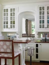 glass cabinets with arch houzz