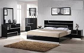 Mirror As A Headboard Amazon Com Modern Barcelona 4 Piece Bedroom Set California King
