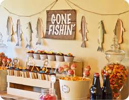 themed decorations kara s party ideas fishin fisherman boy birthday party
