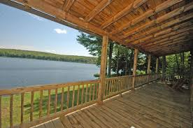 custom log home on private lake front for sale by owner 399 000