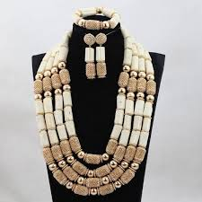 bib necklace rhinestone images Luxury nigerian wedding coral beads jewelry sets crystal jpg