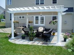 Backyard Designs Photos Modern Backyard Designs With Outdoor Patio And White Pergola