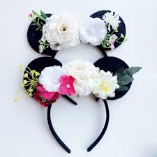 flower bow 1pc kids hair accessories minnie mouse ears headband big flower