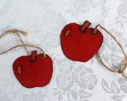 apple ornaments etsy