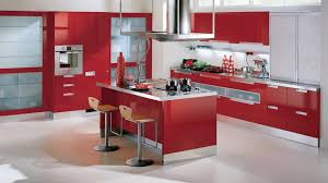 Simple Kitchen Interior Pleasing 10 Red Kitchen Interior Design Ideas Of Modern Red