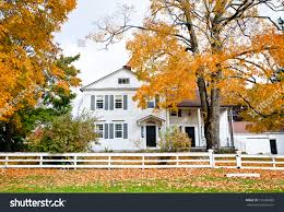 Colonial Style House by Typical New England Colonial Style House Stock Photo 116166403