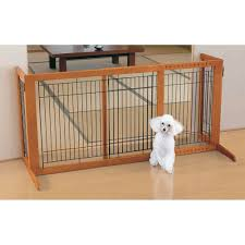amazon com richell wood freestanding pet gate high large autumn