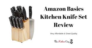 amazon basics premium 18 piece knife block set review