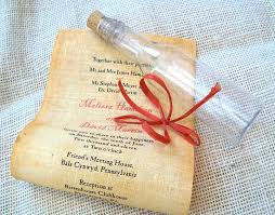diy scroll invitations message in a bottle wedding invitation wedding invitation